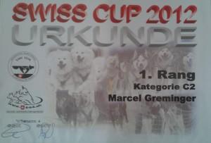 Urkunde des SwissCups2012